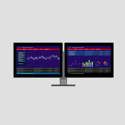 More monitors means more productivity.
